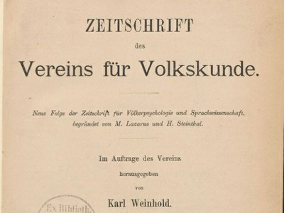 Journal of Vereins für Volkskunde
