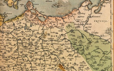 section of a historic map depicting Northern Germany