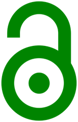 Green open access logo (a green and stylized illustration of an open shackle lock)