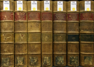 Photo of the spines of old volumes from the magazine